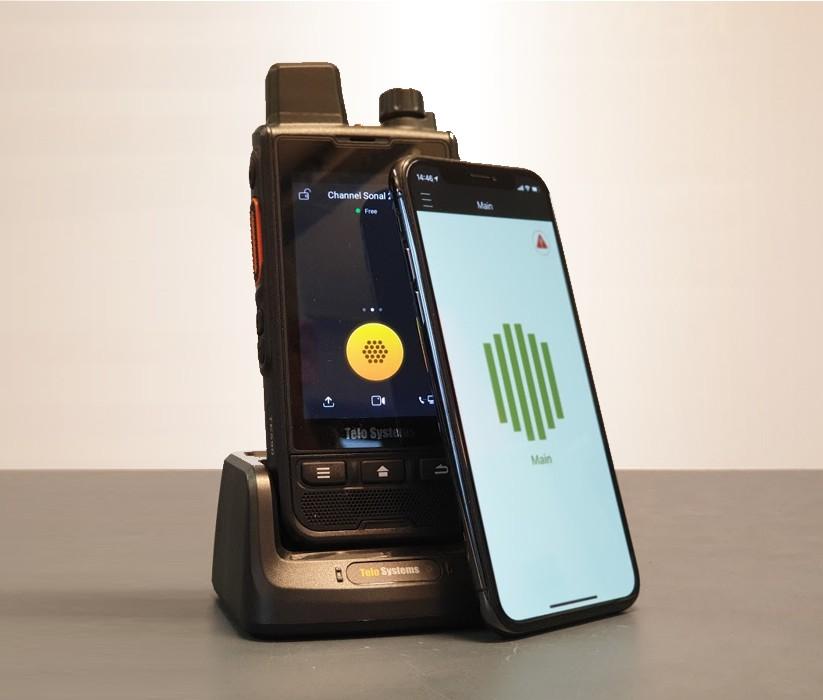 Communiceer met uw walkietalkies via uw smartphone
